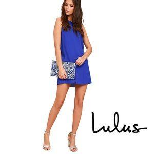 Lulus Sassy Sweetheart Royal Blue Shift Dress